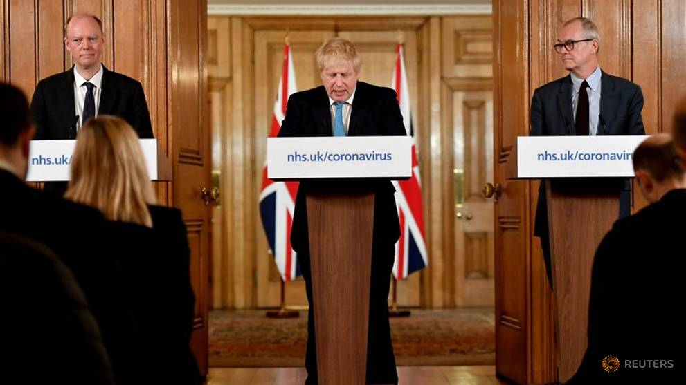 With PM Johnson ill, coronavirus strikes at heart of British politics