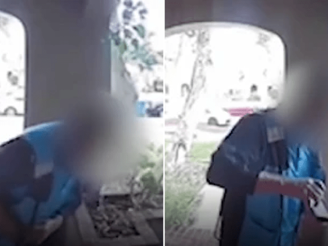Amazon deliveryman sparks coronavirus scare after deliberately rubbing his saliva all over package