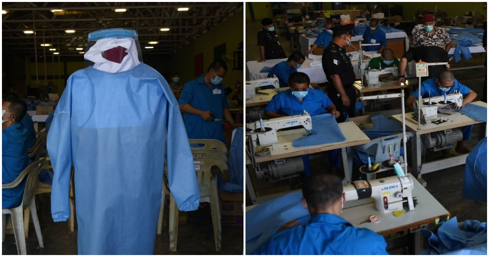 Prison Inmates Are Working Monday to Sunday to Ensure Our Frontliners Get Protective Suits