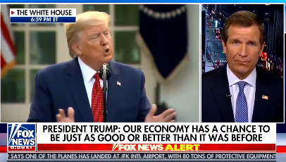 Fox News mutes Donald Trump as he brags about Bachelor-beating 'ratings' during coronavirus briefing