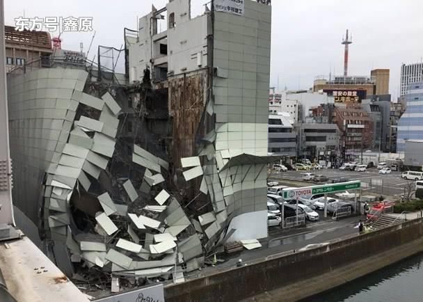 惊险!日本横滨拆卸工程失败,闹市区大楼突然倒塌吓坏路人!