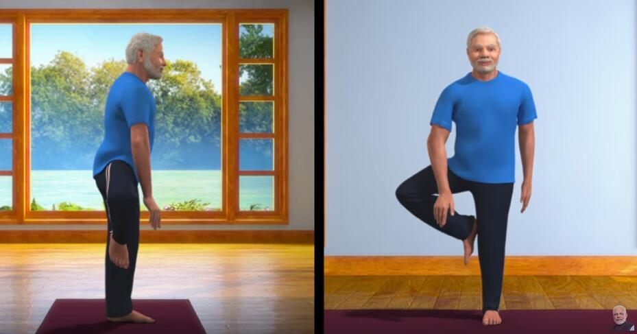 """呼吁民众""""全国封锁""""期间练瑜伽,印度总理莫迪开启""""线上教学""""模式……"""