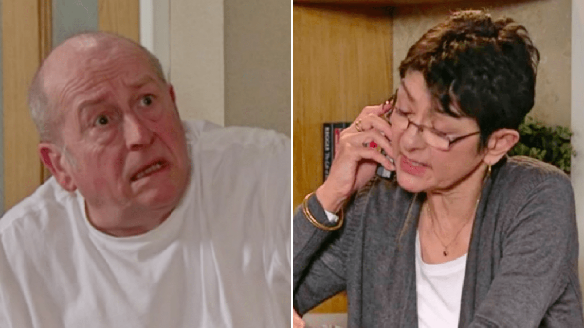 Coronation Street spoilers: Sick Geoff Metcalfe finally caught out as he fakes a heart attack to prevent Yasmeen Nazir from leaving?