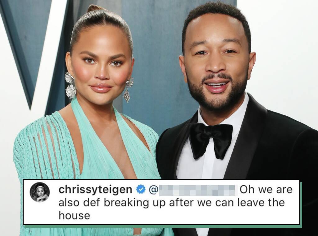 "Chrissy Teigen Jokes She and John Legend Are ""Def Breaking Up"" Once They Can Leave the House"