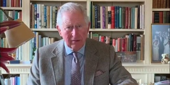 确诊新冠肺炎后,查尔斯王子首次露面,鼓励民众怀抱信念