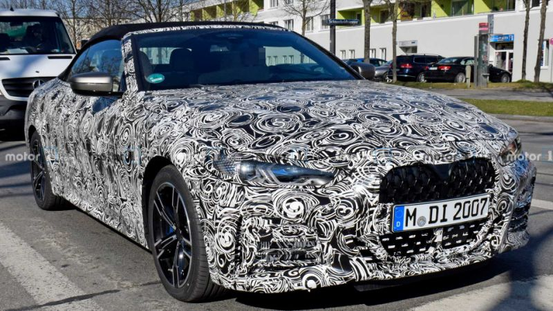 2021 BMW 4 Series Convertible spied showing new details