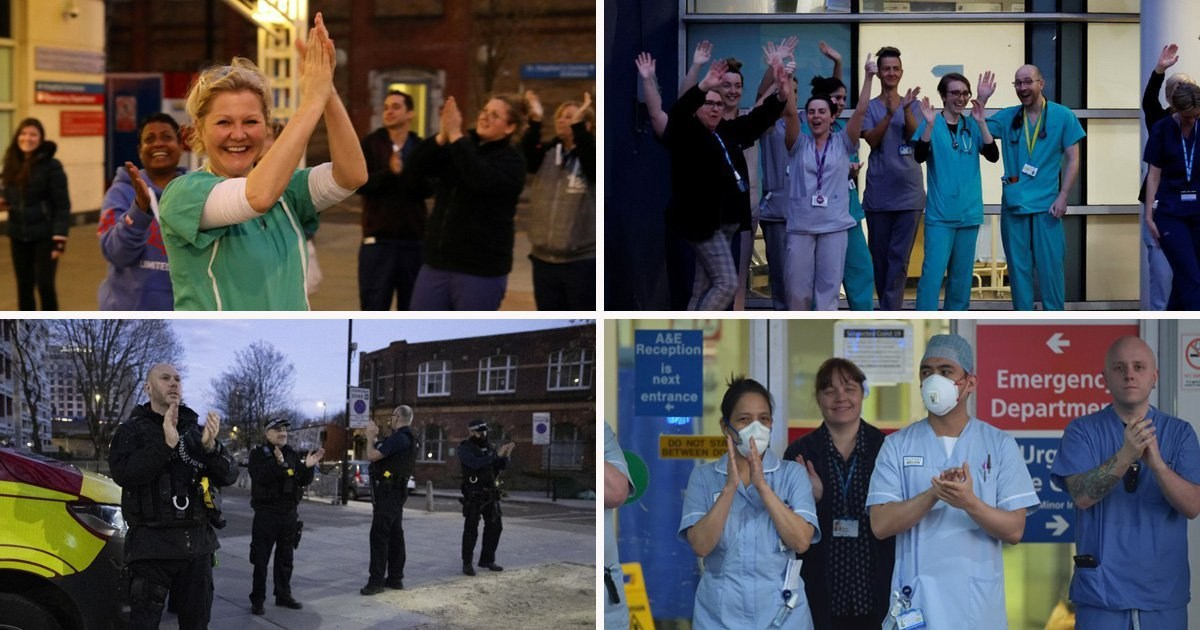 Applause rings out across UK in second Clap for Carers and key workers