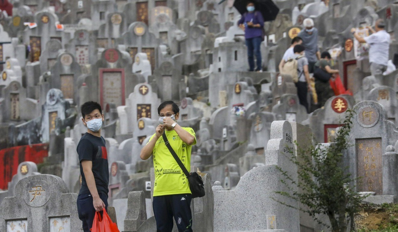 Coronavirus: quieter Ching Ming Festival as Hongkongers mark grave-sweeping date with social-distancing laws in place