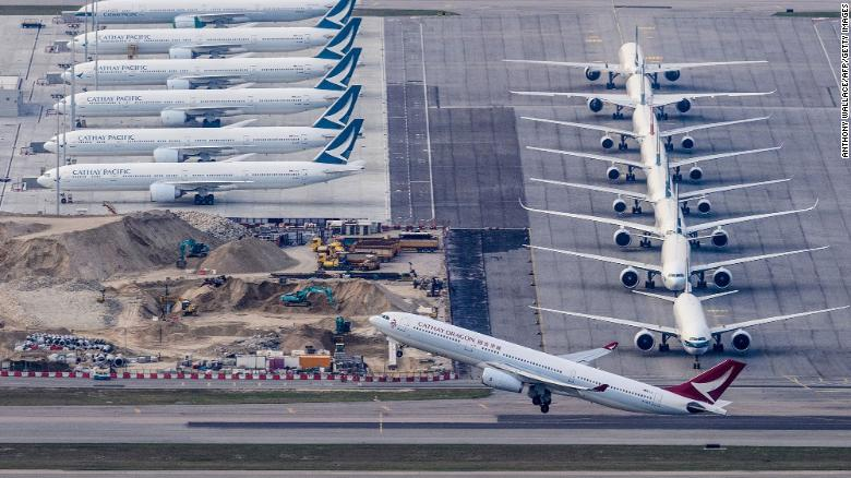 'Demand has disappeared': Cathay Pacific slashes more flights after flying just 582 people in one day