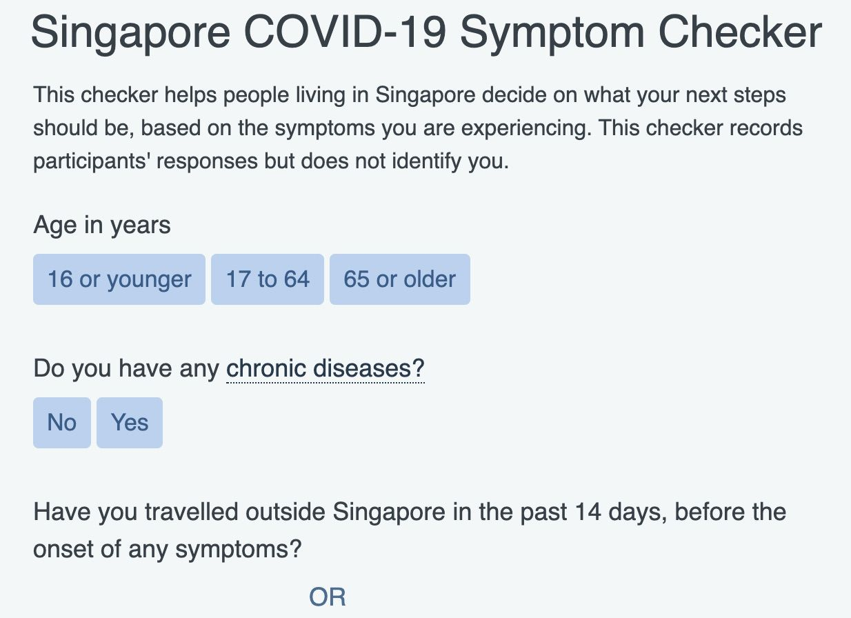 Singapore agencies launch online COVID-19 Symptom Checker