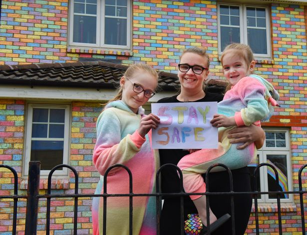 Mum transforms house into tribute to coronavirus key workers in just three days