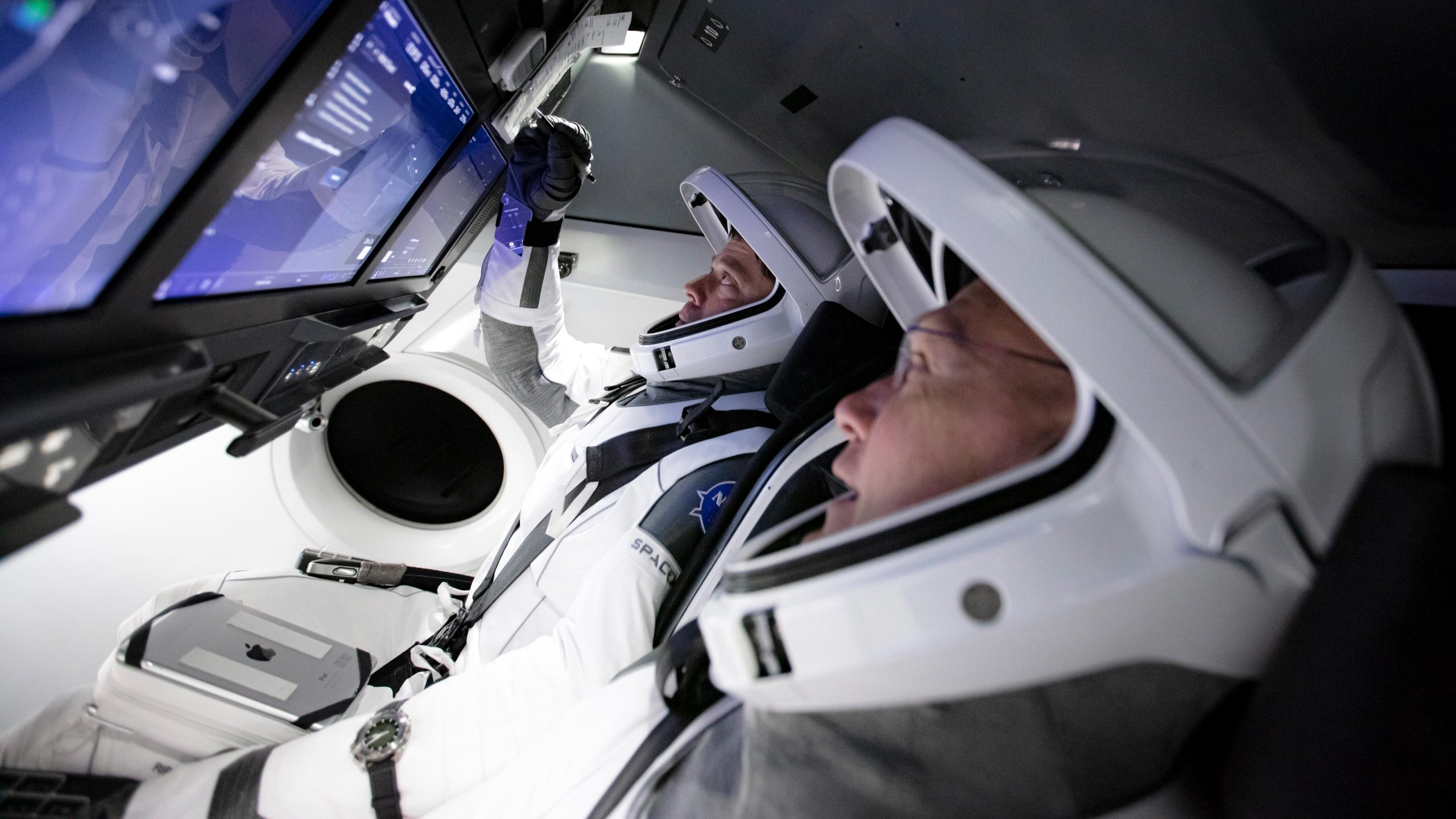 NASA Astronauts Train to Fly the SpaceX Crew Dragon Spacecraft