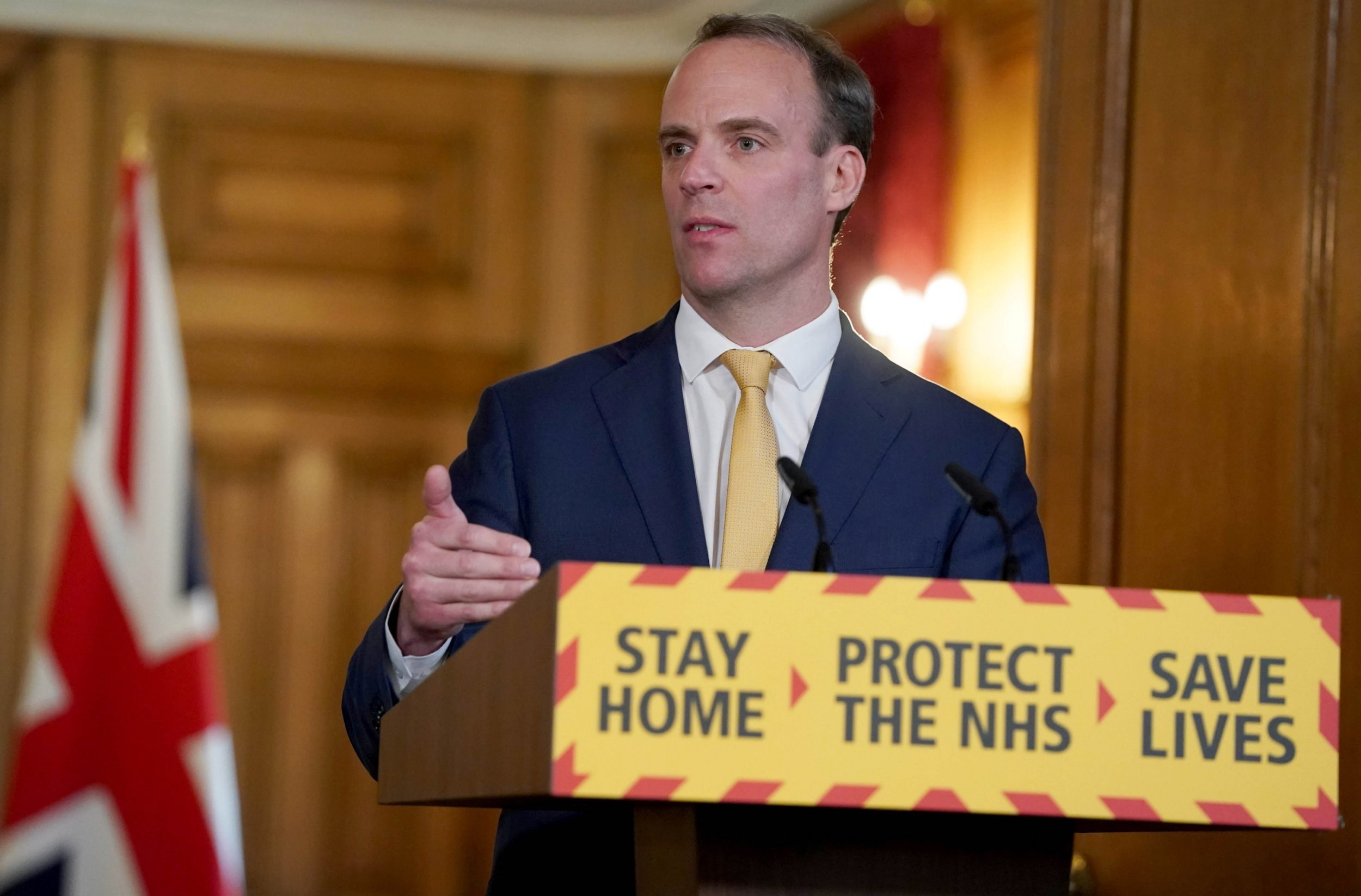 Raab hints at extending lockdown as restrictions are 'not at review stage'