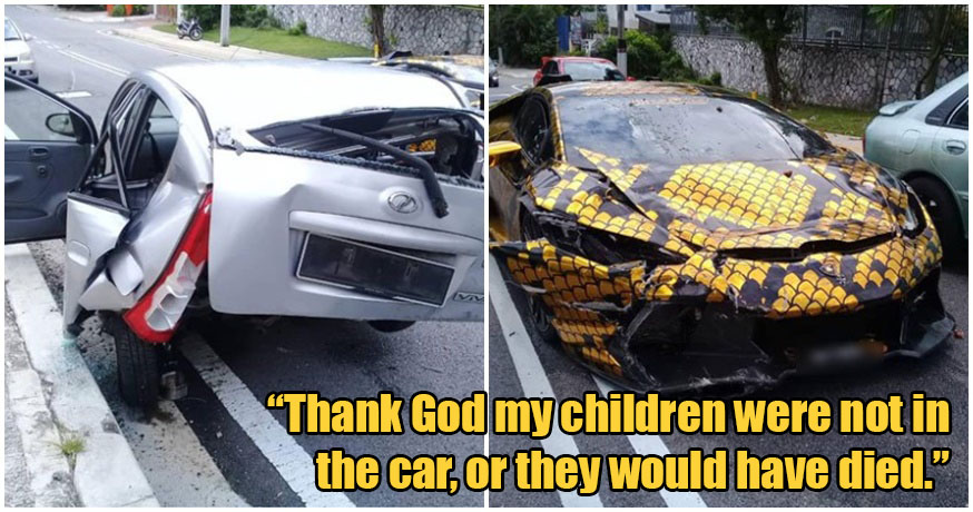 Single Mum of 3 Who Ran Home-Cooked Meal Delivery Business Gets Car Wrecked By Lambo Driver