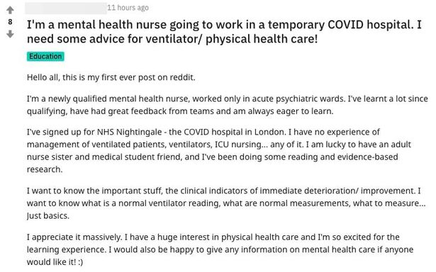 Nurse at NHS Nightingale hospital says she has no experience using ventilators