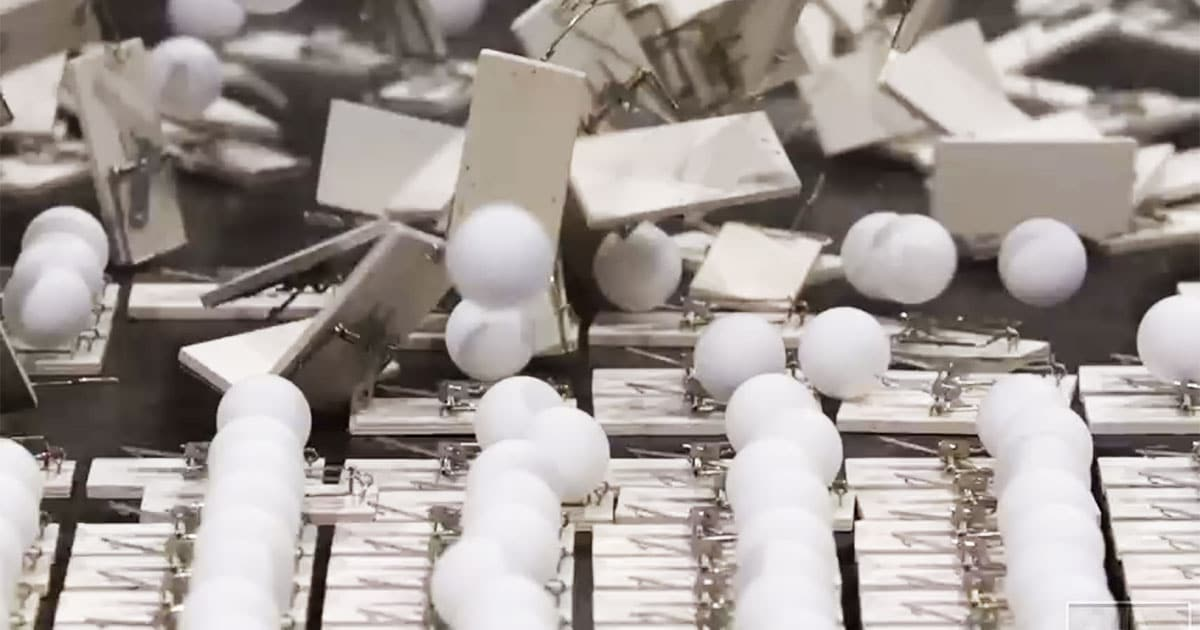 Viral Mousetrap And Ping Pong Ball Video Explains How Social Distancing Works