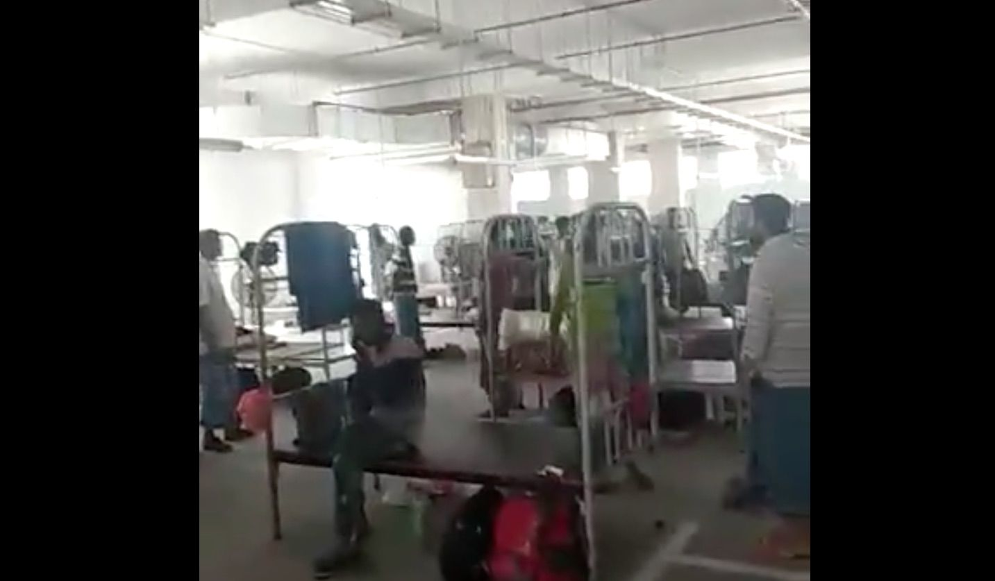 COVID-19: HDB explains online video of foreign workers housed in multi-storey car park