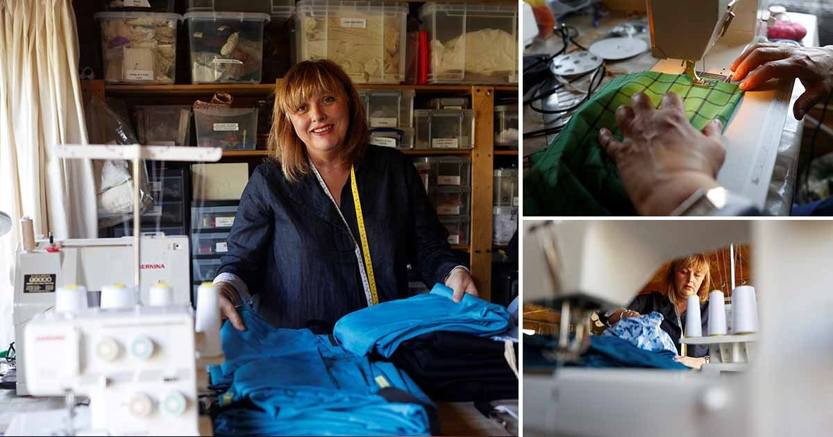 Downton Abbey and Star Wars costume makers sewing scrubs for coronavirus medics