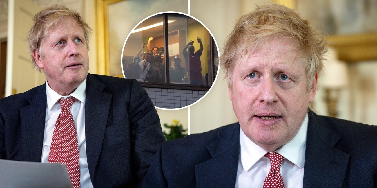 Boris Johnson thanks NHS for 'saving his life' after release from hospital