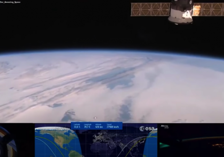 NASA's ISS stream captures UFO disk hovering above Earth?