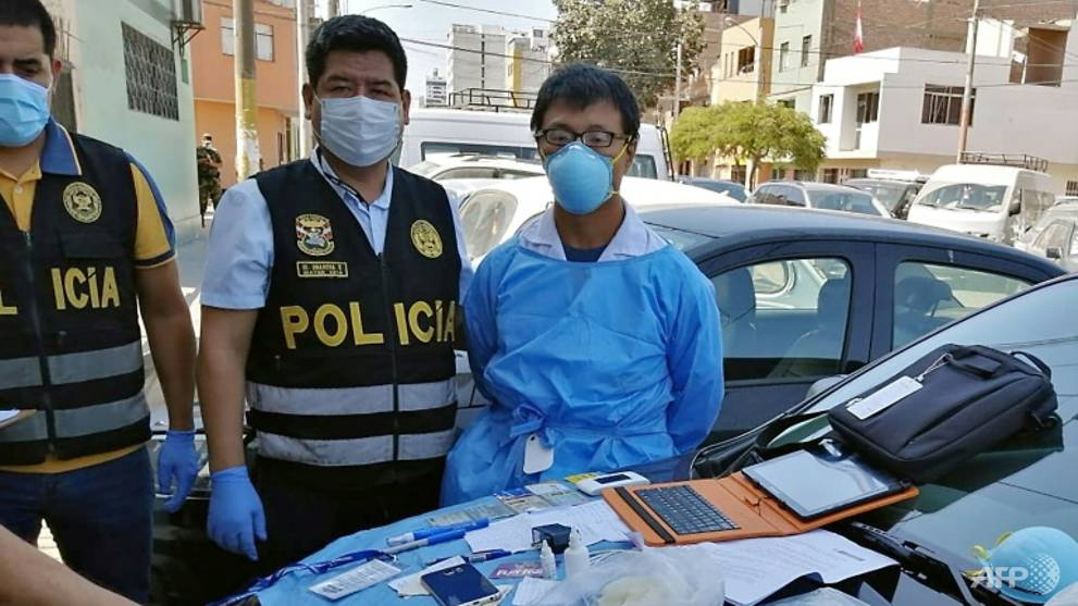 Peru police arrest Chinese man for illegal COVID-19 testing
