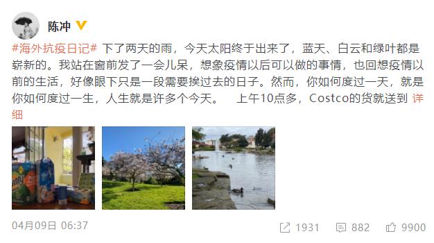 陈冲受访谈美国疫情:身边有人买枪 厕纸被抢光