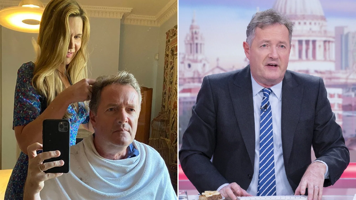 Piers Morgan 'not filled with confidence' as wife Celia Walden gives him self-isolation haircut