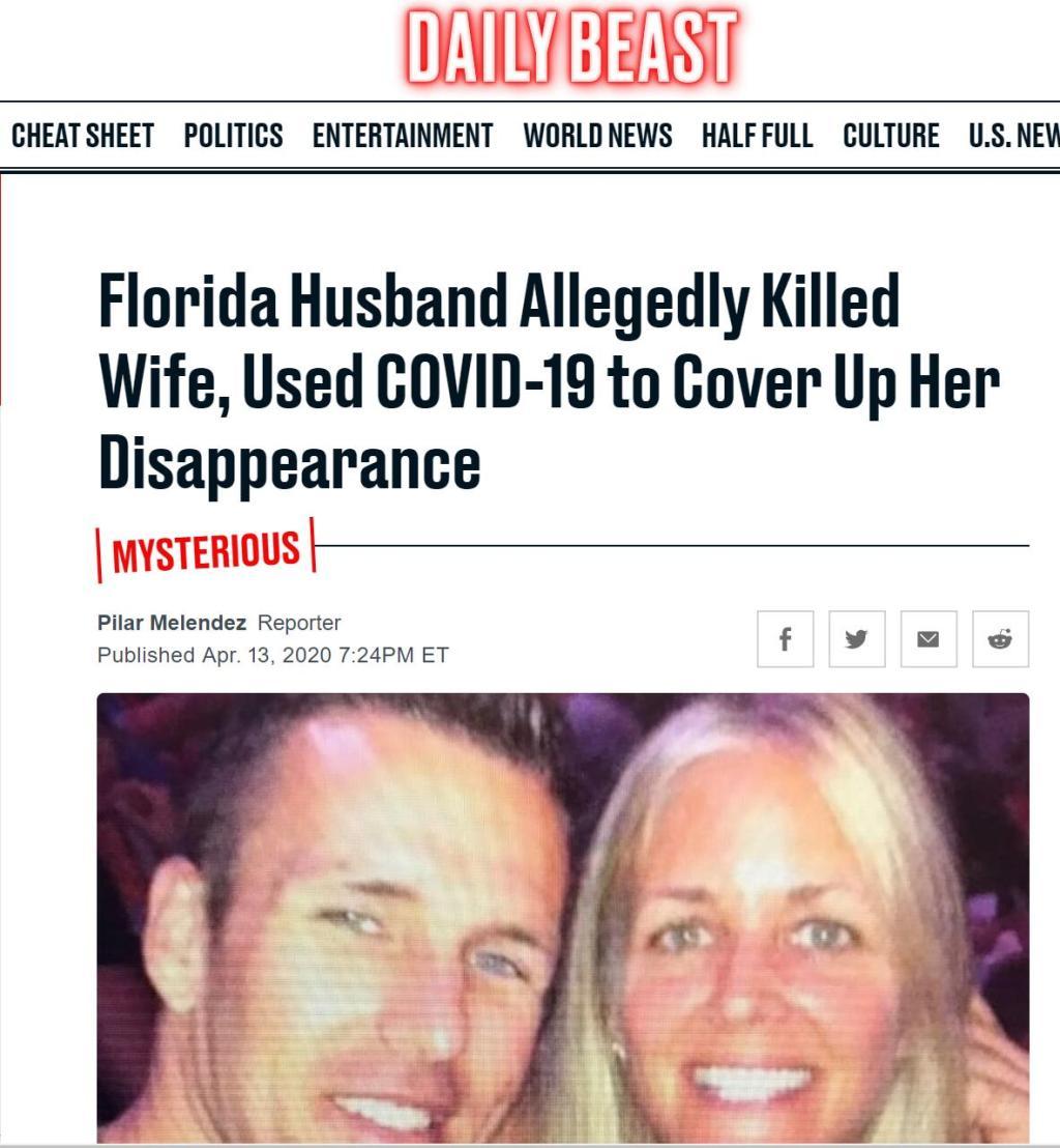 美国一男子涉嫌杀妻,还试图让人误以为妻子因感染新冠病毒失踪……
