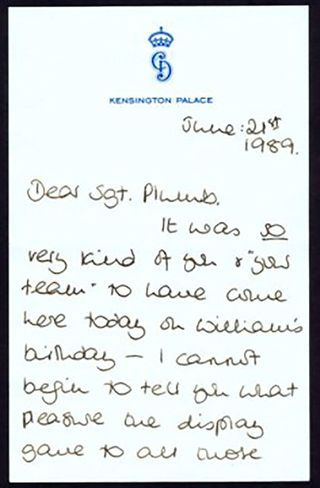 Read Princess Diana's Unearthed Letter from 1989