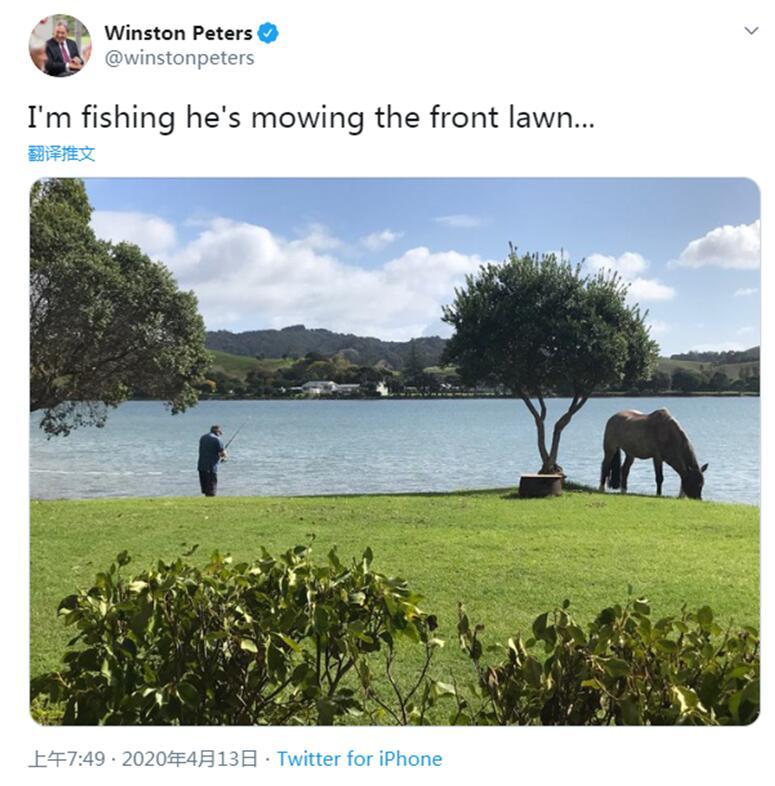 """新西兰副总理疫情""""封城""""后去钓鱼引争议,总理也被惊动了"""