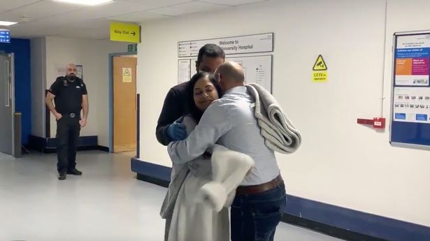 Coronavirus patient leaves hospital to round of applause from NHS staff