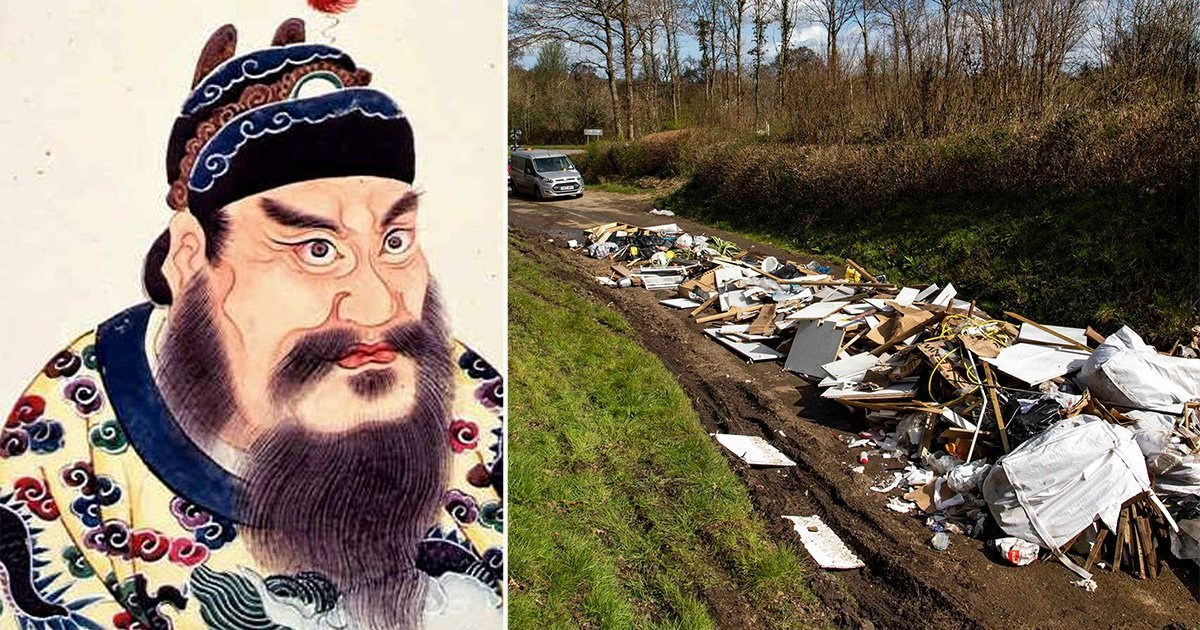 Council uses death of China's first emperor to stop people fly-tipping