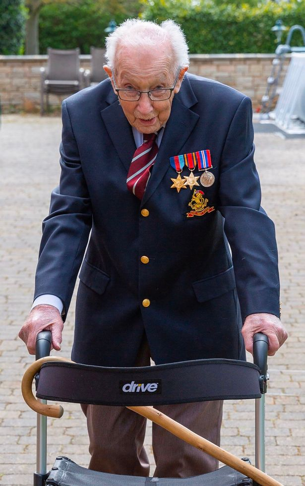 War hero, 99, raises £2m for NHS by walking 100 lengths of his garden