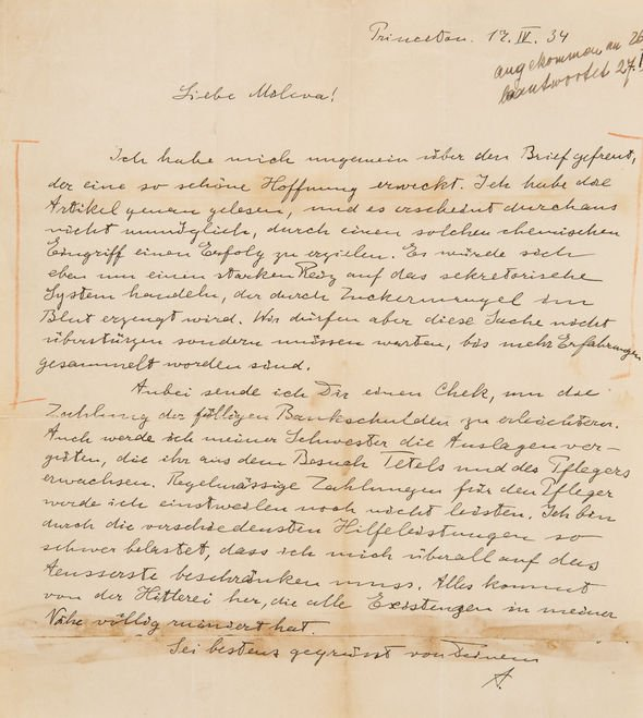 Albert Einstein: Physicist's heartbreaking letter about 'Hitler's insanity' revealed