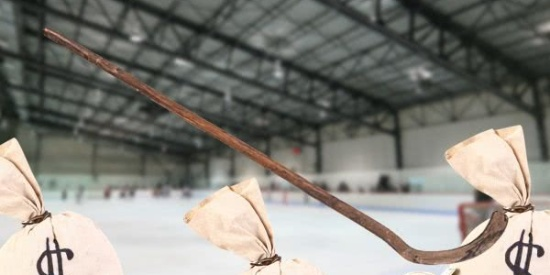美夫妇翻修旧屋发现170年历史冰球棍,拍卖价格或达2447万