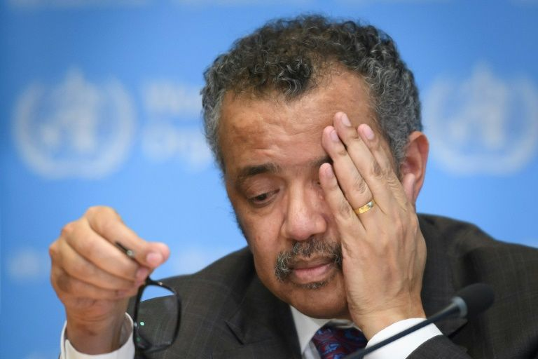 WHO chief tedros in the eye of the storm