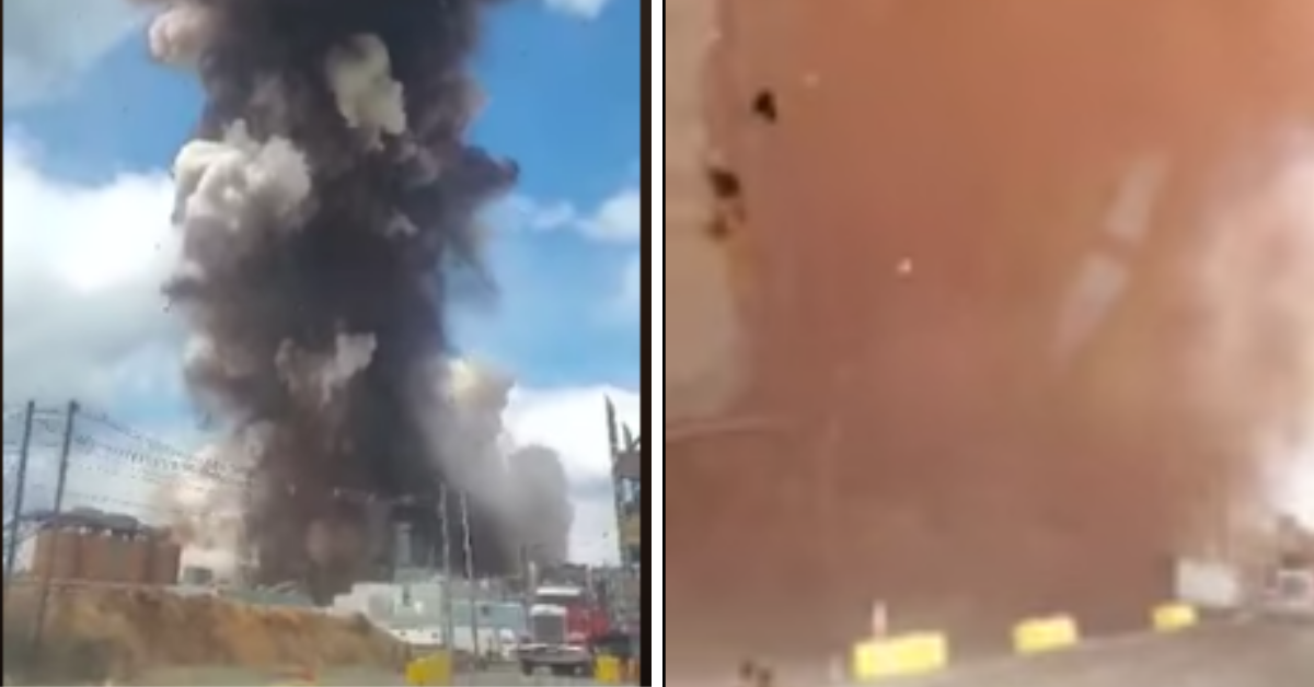 Intense Video Captures Moment Maine Paper Mill Is Completely Blown To Smithereens