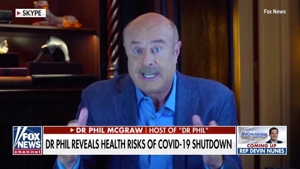 Dr Phil divides opinion as he rants lockdown will kill more 'vulnerable' people than coronavirus