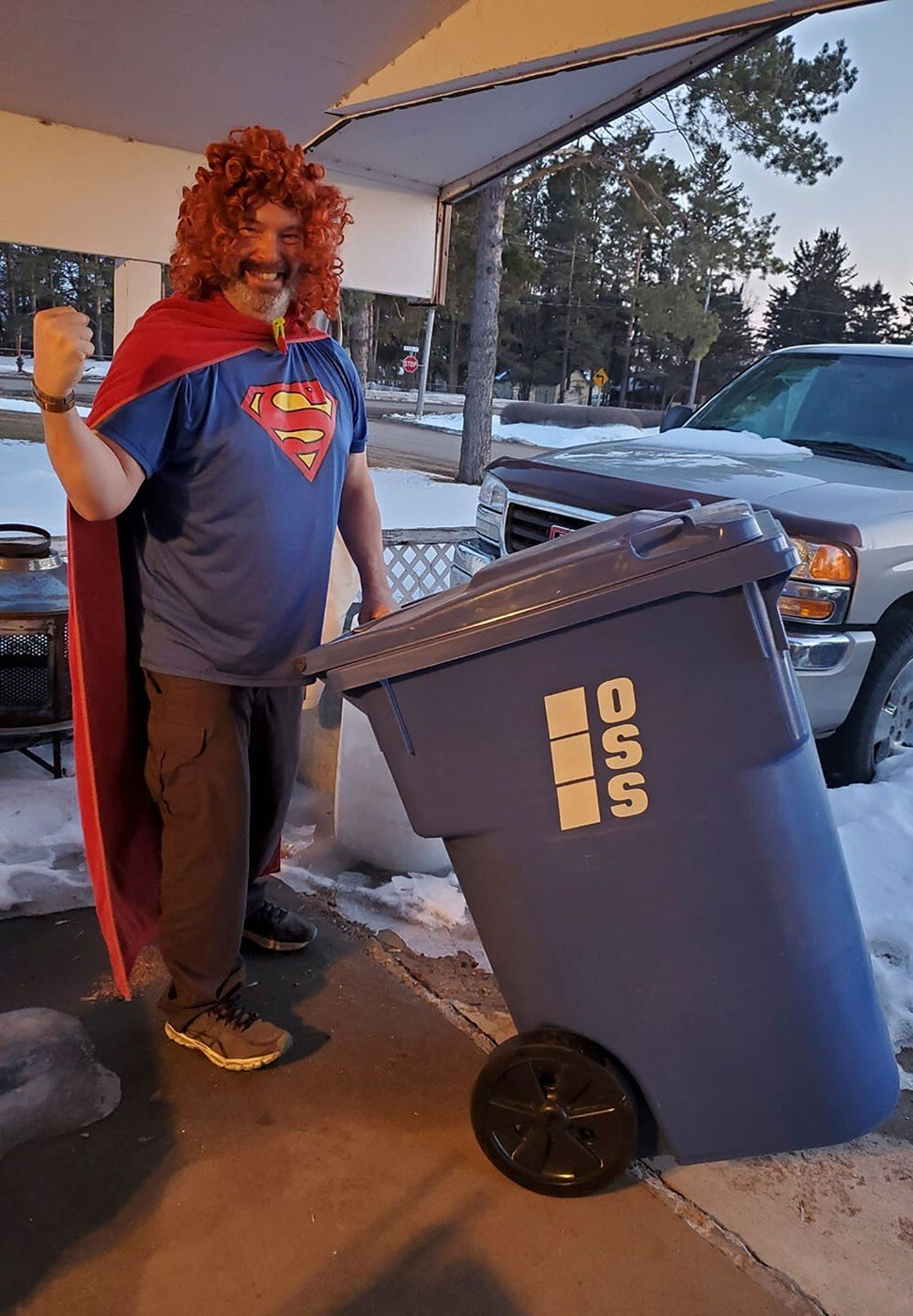 The people in lockdown who dress up to take the bins out – it's a trashy fashion trend