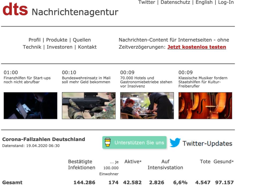 快讯!德国单日新增2339例新冠肺炎确诊病例,累计确诊超14.4万例