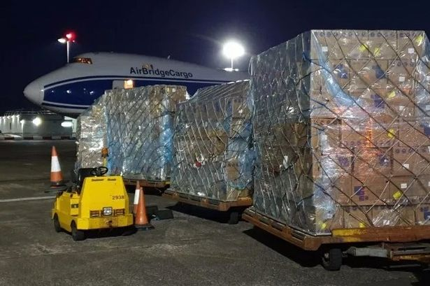 Plane carrying 10 million face masks and protective gear from China lands in UK