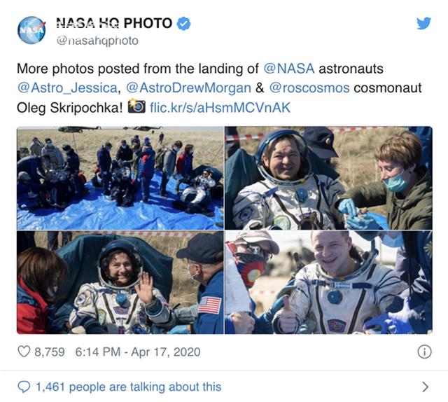 离开200多天 疫情中3位宇航员太空返回:世界大变