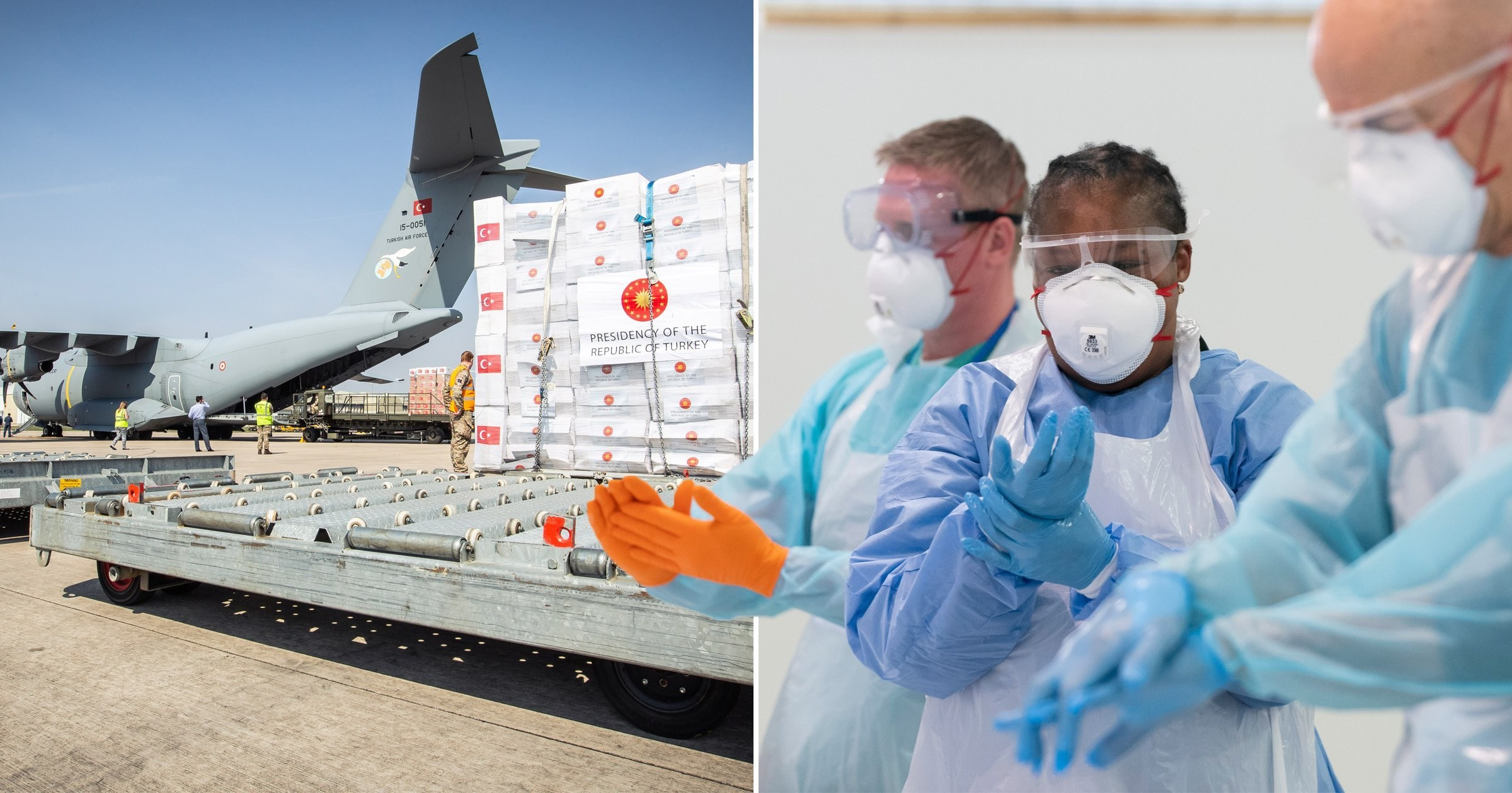RAF flight takes off to bring vital PPE to the UK from Turkey