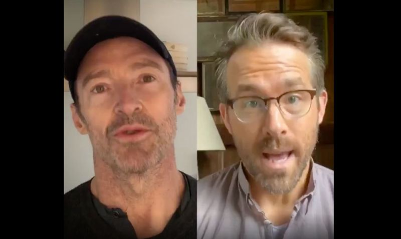 Ryan reynolds and hugh jackman feud while calling for an end to their feud