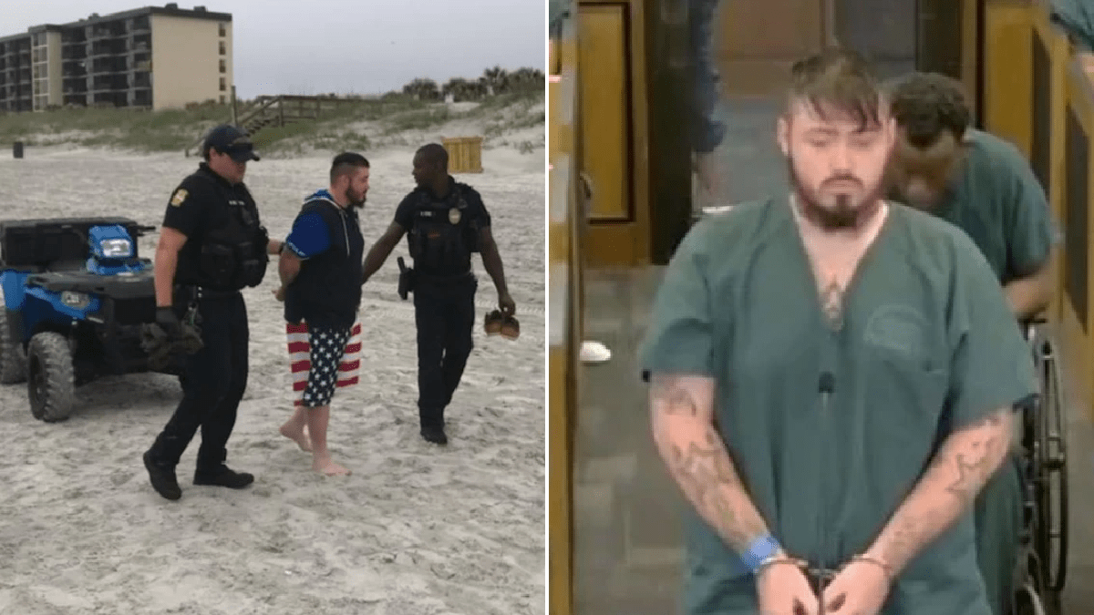 Fugitive 'murderer' caught after heading to the beach to sunbathe