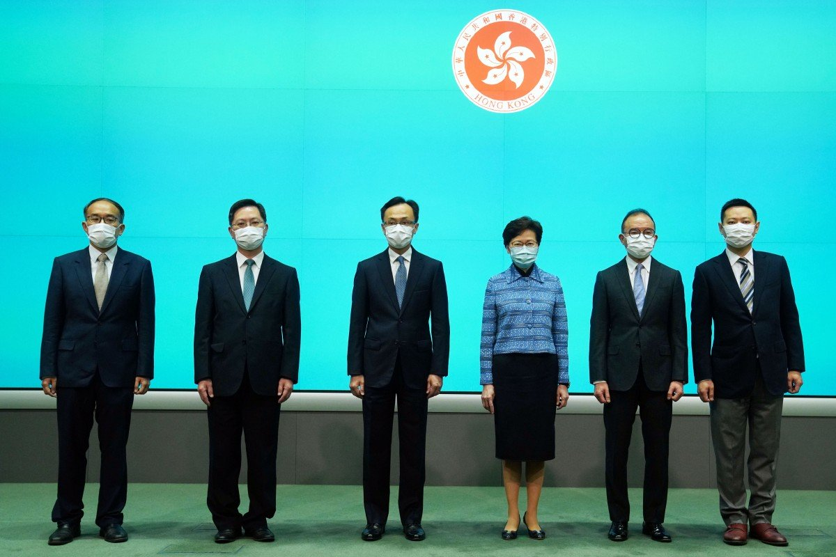 Hong Kong leader Carrie Lam says cabinet reshuffle aimed at post-coronavirus recovery