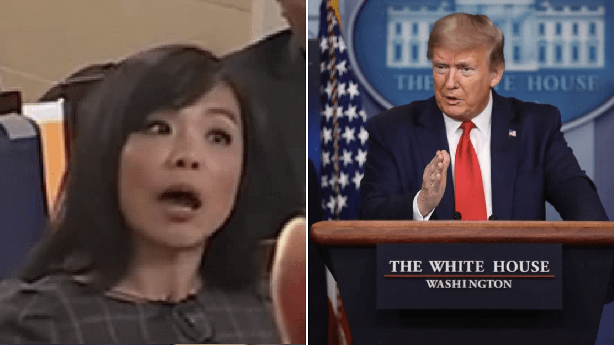 Donald Trump mansplains to reporter as he tells her to 'keep your voice down'