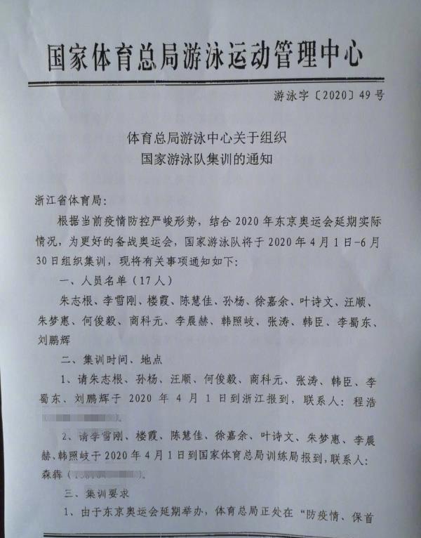 中国泳协回应孙杨入选国家游泳集训队:名单已作废!