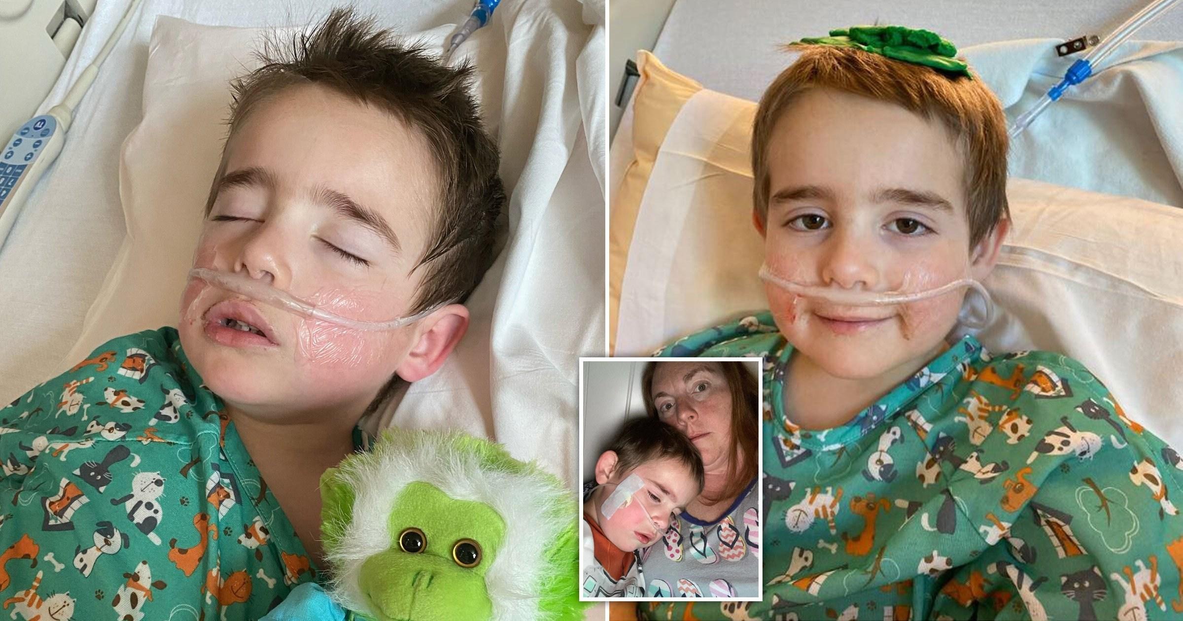 Boy, 4, told mum 'I'm not gonna go home' as he battled coronavirus in hospital