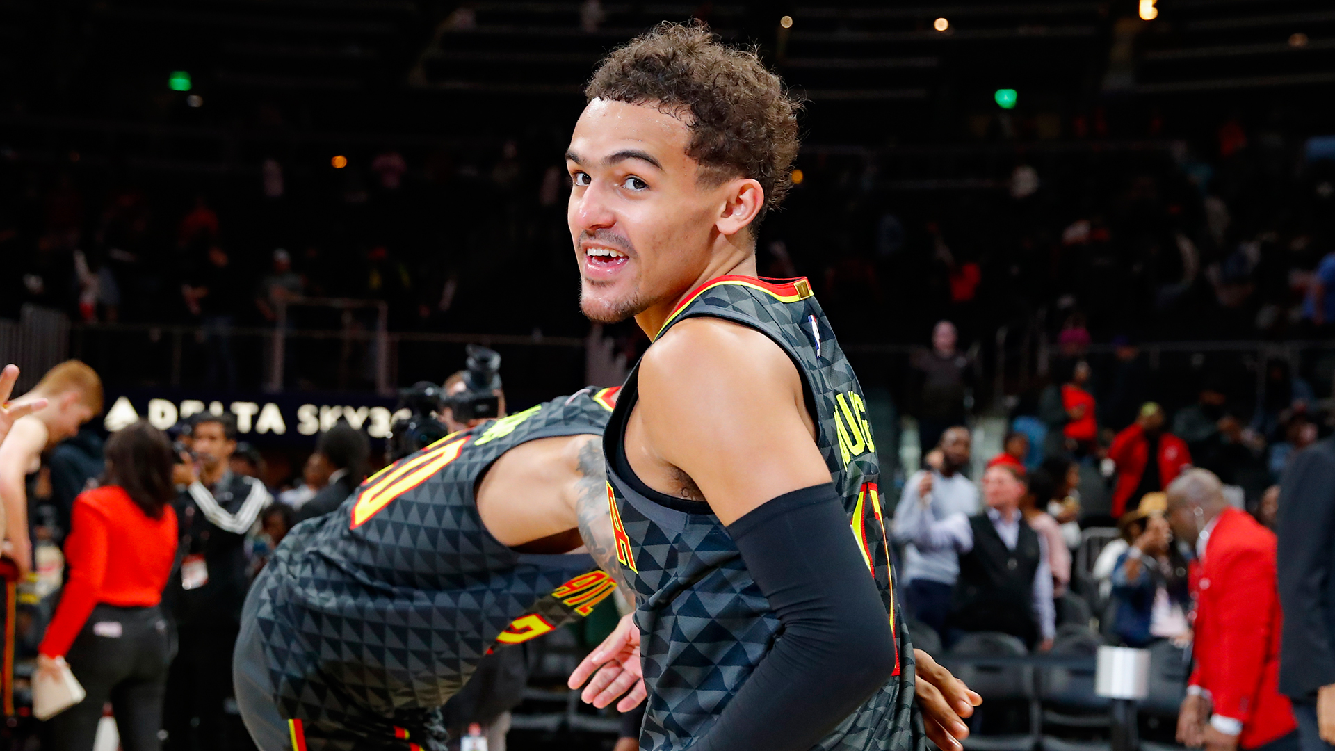 Trae Young Reacts to Viral Clip of His Ex Getting Phone Grabbed by Boyfriend CeeDee Lamb During NFL Draft